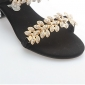 Women's Shoes Genuine Leather Stylish Block Heel Slipper Sandal With Rhinestone More Colors Available