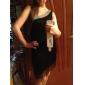 dancewear algodón / poliéster con cristal / rendimiento borlas latino vestido de baile para las damas más colores