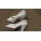 Pantofi De Mireasă Peep Toe Cu Toc Gros (Mai Multe Culori)