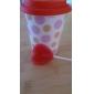 taza de cerámica de lunares y el favor de la tapa (más colores)