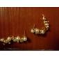 la perle de viva femmes brins boucles d'oreilles diamant