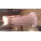 프롬/밀리터리 볼/저녁 정장파티 드레스 - 블러슁 핑크 시스/컬럼 바닥 길이 스쿱 쉬폰