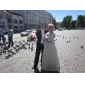 WINDSOR - Bruiloftsfeestjurk of Bruidsmeisjesjurk van Satijn met Bolero