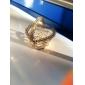 corazón de metal de oro en forma favorable la bolsa de organza con delicadas (juego de 12)