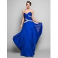 Formal Evening/Military Ball Dress - Ruby Plus Sizes Sheath/Column V-neck Floor-length Chiffon