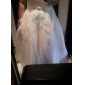 Ball Gown Plus Sizes Wedding Dress - Ivory Chapel Train V-neck Organza