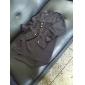 color sólido v camisa de la gasa del cuello henley de las mujeres