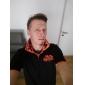 Lesen Men's Lapel Stylish Embroidery Short Sleeve T-Shirt O