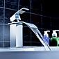 Robinet de salle de bain Sprinkle®  ,  Moderne  with  Chrome 1 poignée 1 trou  ,  Fonctionnalité  for Jet pluie / Centerset