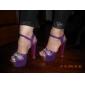 Flocking Women's Chunky Heel Peep Toe Pumps Shoes (More Colors)