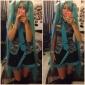 Inspirerad av Vocaloid Hatsune Miku Video Spel Cosplay Kostymer/Dräkter cosplay Suits / Klänningar Lappverk Svart / Blå / Lila ÄrmlösBlus