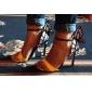 Damskor - Läderimitation - Stilettklack - Klack - Sandal - Formellt - Gul / Grön / Silverfärgad