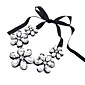 Women's Sweet Crystal Flowers Necklace