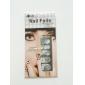 12PCS dentelle blanche transparente avec strass scintillants Wedding Nail Motif Fleur Autocollants