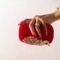 Femme Velours Soirée / Fête Sac de soirée Rouge Fuchsia