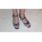 Chaussures de danse (Noir/Argent/Or/Blanc) - Non personnalisable - Talon aiguille - Similicuir/Paillette -Chaussures de Sport/Danse