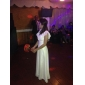 CHRISTINA - Kleid für die Braut aus Chiffon und Elastische Seide