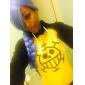 Inspiré par One Piece Trafalgar Law Anime Costumes de cosplay Hoodies Cosplay Imprimé Noir / Jaune Manche Longues Manteau