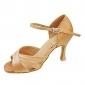 anpassa prestanda dansskor satin övre latinska skor för kvinnor