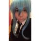 Perruques de Cosplay Sword Art Online Cosplay Bleu Moyen Anime Perruques de Cosplay 45 CM Fibre résistante à la chaleur Féminin