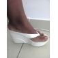 Damskor - Läderimitation - Kilklack - Flip-flop - Sandal - Fritid - Svart / Rosa / Vit