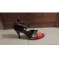 Satin évasée Heel femmes personnalisés avec boucle chaussures de danse de salon Talons latine