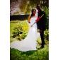 lanting Braut Mantel / Spalte petite / Übergrößen-Hochzeitskleid-Gericht Chiffon Zug Halfter