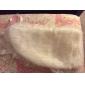 ivoor faux fur speciale gelegenheid / bruiloft sjaal met lint en kant trim bolero schouderophalen