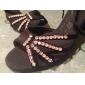 Sapatos de Dança Latina de Mulher em Cetim e Strass
