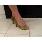 kvinnors satin övre buckie balsal latinska skor sandals
