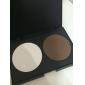Femmes maquillage cosmétique Contour palette de poudre d'ombrage Concealer 2 couleurs 5841