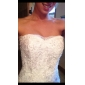 Lan Ting Trumpet/Mermaid Plus Sizes Wedding Dress - Ivory Sweep/Brush Train Sweetheart Tulle