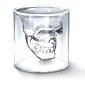 fraîche transparente créative design de la tête du crâne effrayant nouveauté vin de drinkware tasse en verre de 75ml tir