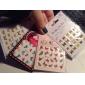 4PCS New Water Transfer Printing Nail Art Stickers Fjärilar Series