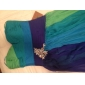 Prom/Military Ball/Formal Evening Dress - Blue/Green Ombre Sheath/Column Strapless/Sweetheart Floor-length Chiffon