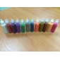 12 blandade färger mode glitter pulver nail art dekoration