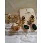 placate cu aur de epocă femei cercei cu diamante de cristal Ombre