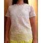 Damă Rotund Bluză Casul/Zilnic Plus Size Simplu(ă),Jacquard Manșon scurt Vară-Subțire Poliester