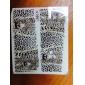 1x10PCS Leopard Motif transfert de l'eau Imprimer Nail Art Sticker Decal
