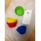 godis färg silikon baka tårta formar 6st (diverse färg)