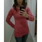 Primavera Causal Bodycon algodón blusa de las mujeres