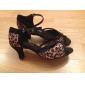 Anpassad Kvinnors Professional Satin Övre Salsa Chacha Latin Dance Shoe