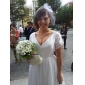 Hochzeitsschleier Einschichtig Gesichts Schleier Netzschleier Schnittkante Tüll