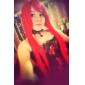 Svart och rött blom Satin Gothic Lolita korsett med spets