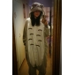 kigurumi Pyjamas Chat Collant/Combinaison Fête / Célébration Pyjamas Animale Halloween Blanc / Gris Mosaïque Toison de Coral Kigurumi Pour