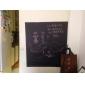 Svarta tavlan Väggklistermärken Väggklistermärke i svarta tavlanstil Dekrativa Väggstickers,Vinyl MaterialKan tas bort Kan ompositioneras