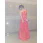 Teacă / coloană un umăr podea lungime șifon rochie de seară cu beading de ts couture®