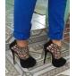 Chaussures Femme - Habillé - Noir - Talon Aiguille - Talons / Bout Arrondi - Talons - Daim