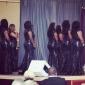 동창회 공식적인 저녁 / 군사 공 드레스 - 블랙 플러스는 트럼펫 / 인어 BATEAU 청소 / 브러쉬 기차 반짝이 크기