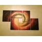 HANDMÅLAD Abstrakt Mer än fem paneler Kanvas Hang målad oljemålning For Hem-dekoration